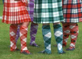 Reino Unido, Escocia, Fort Augustus, Juegos de los Highlands, Faldillas de Tartan