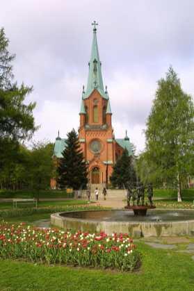 Finlandia, Tampere, Iglesia de Alejandro, Parque PYYniKi