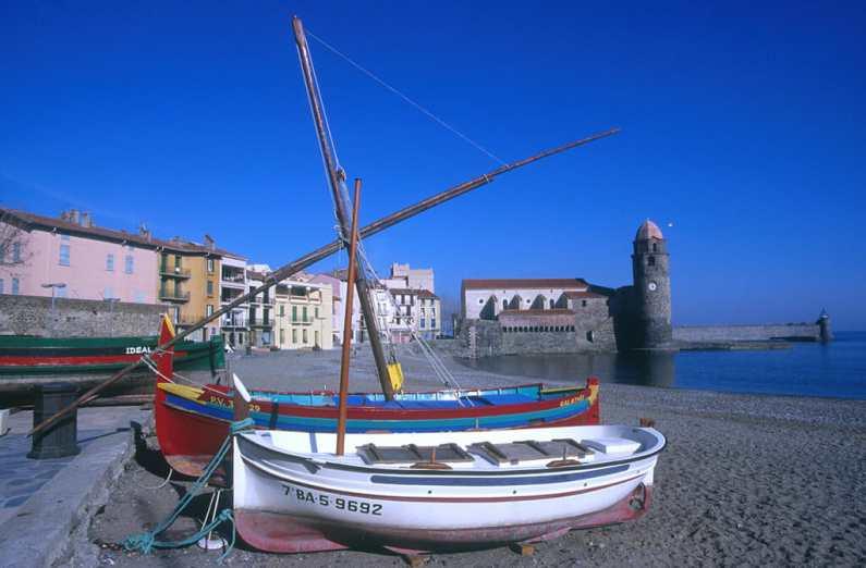 Francia, Languedoc Rosellon, Collioure, Playa Boramar