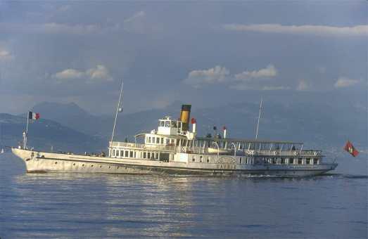 Francia, Alta Saboya, Evian Les Bains, Lago Leman