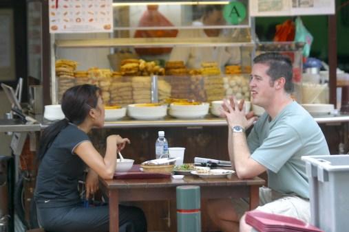 "Singapur, Chinatown, Smith Street Conocida Como ""Food Street"""