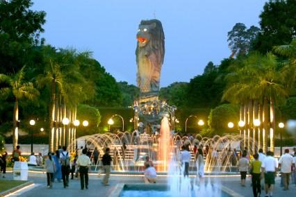 Singapur, Isla Santosa, El Merlion