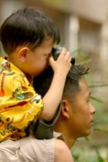 Singapur, Zoológico, joven fotógrafo