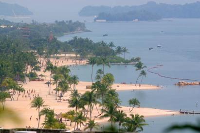 Singapur, Isla Santosa, playa
