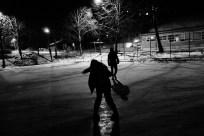 Lida og Ao på isen