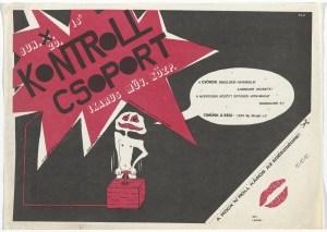 Kontroll Csoport Ikarus Művelődesi Központ 1982 koncertplakát