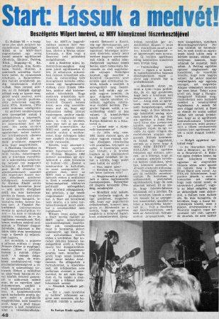 Szőnyei Tamás Start cikk 1/2 (1982)