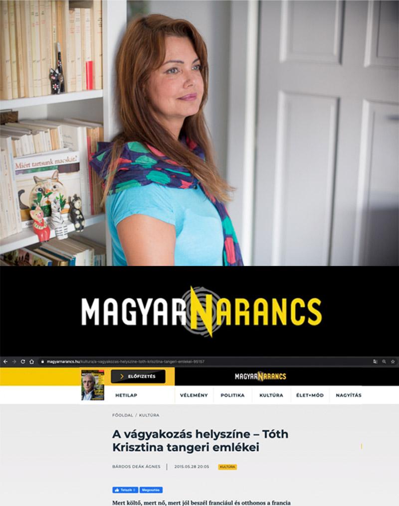 A vágyakozás helyszíne – Tóth Krisztina tangeri emlékei, MagyarNarancs 2015