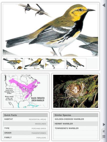 Species information in portrait view.