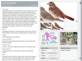 Individual species information in Landscape orientation