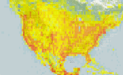 Hotspots Heatmap for North America