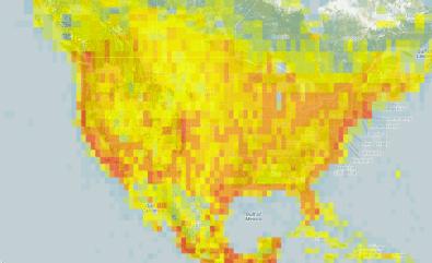 Hotspots Heatmap for North America
