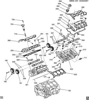 Buick Enclave (AWD)  RV1 ENGINE ASM36L V6 PART 2