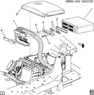 Buick Rendezvous  B PCM MODULE & WIRING HARNESS (LA13