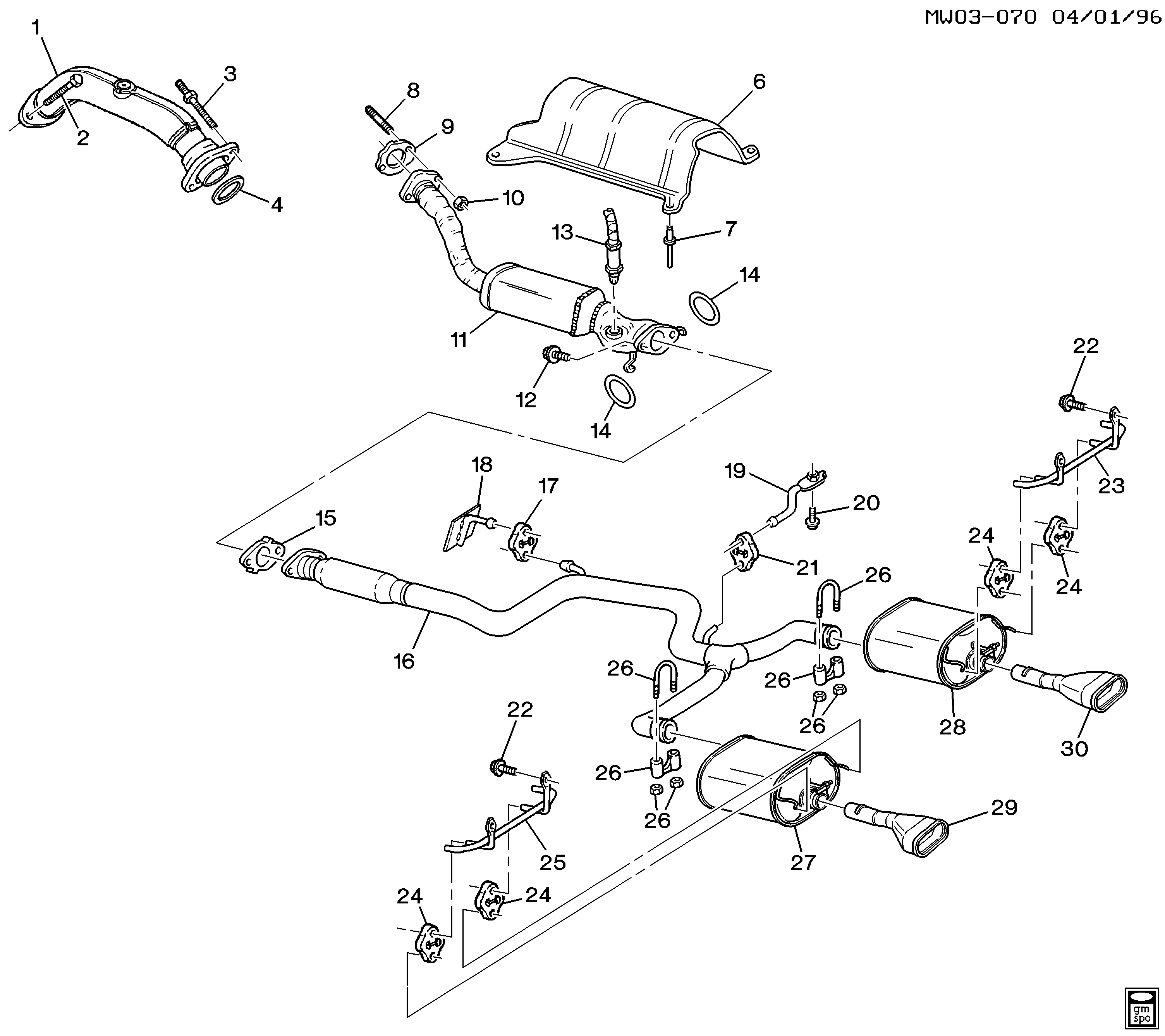 Pontiac Grand Prix Exhaust System Diagram