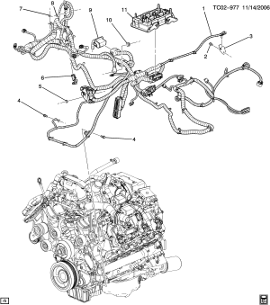 Avalanche  36 Bodystyle (2WD)  Wiring harnessengine part 2 > Chevrolet EPC Online > Nemiga