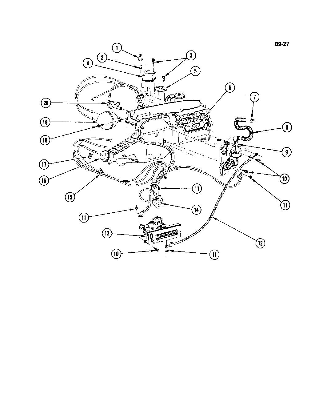 Auto Air Conditioning Parts Diagram