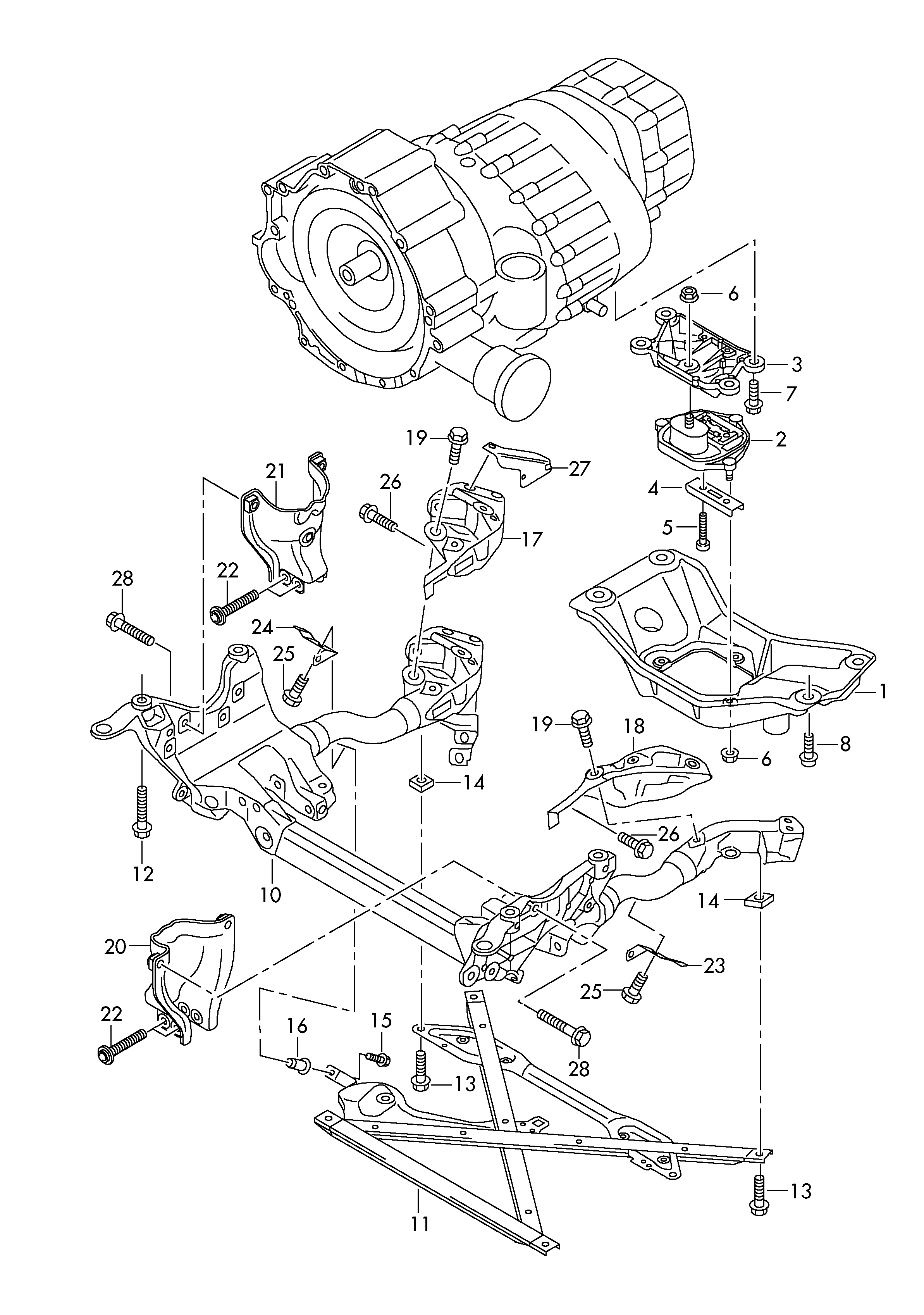 Audi Transmission Diagram