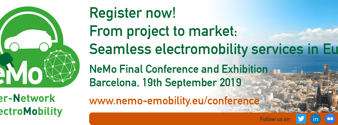 Register now: NeMo Final Conference and Exhibition – From project to market: seamless electromobility services in Europe
