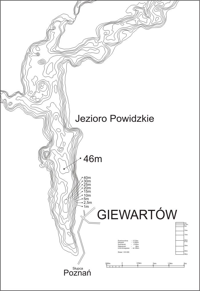 Mapa Jeziora Powidzkiego « NEMO