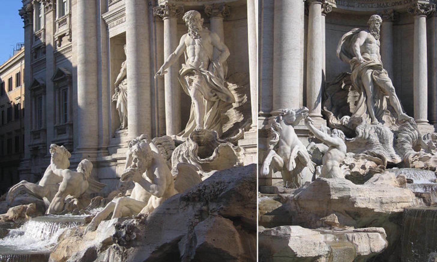 Oceanus, Trevi Fountain