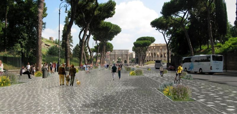 ROME BIKE PATH TO LINK COLOSSEUM AND CIRCUS MAXIMUS