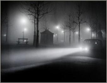 | Brouillard Avenue de L'Observatoire, 1934 |