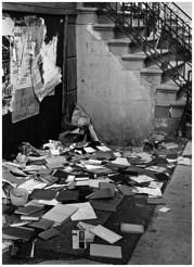 | Untitled (books scattered on sidewalk), 1974 |