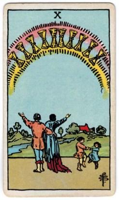 Taurių dešimt taro korta