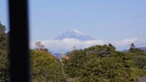 廊下から望む富士山