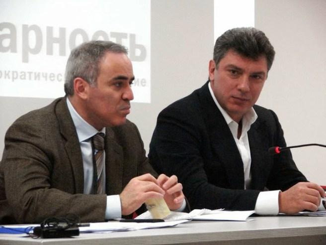 С соратником по борьбе Гарри Каспаровым