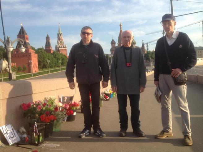 Ночные Павел Колесников, Игорь Гордеев и примкнувший Владимир Трофимов