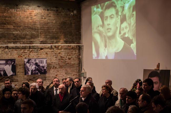 Павел Шеремет на похоронах своего друга Бориса Немцова Фото: Денис Синяков / «Медуза»