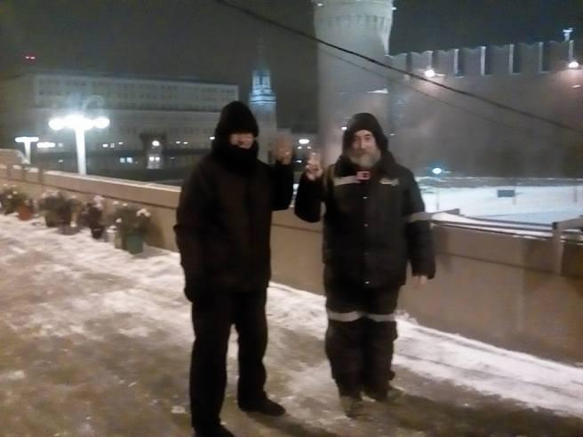 Саша Казаков мост сдал. Григорий Саксонов мост принял.