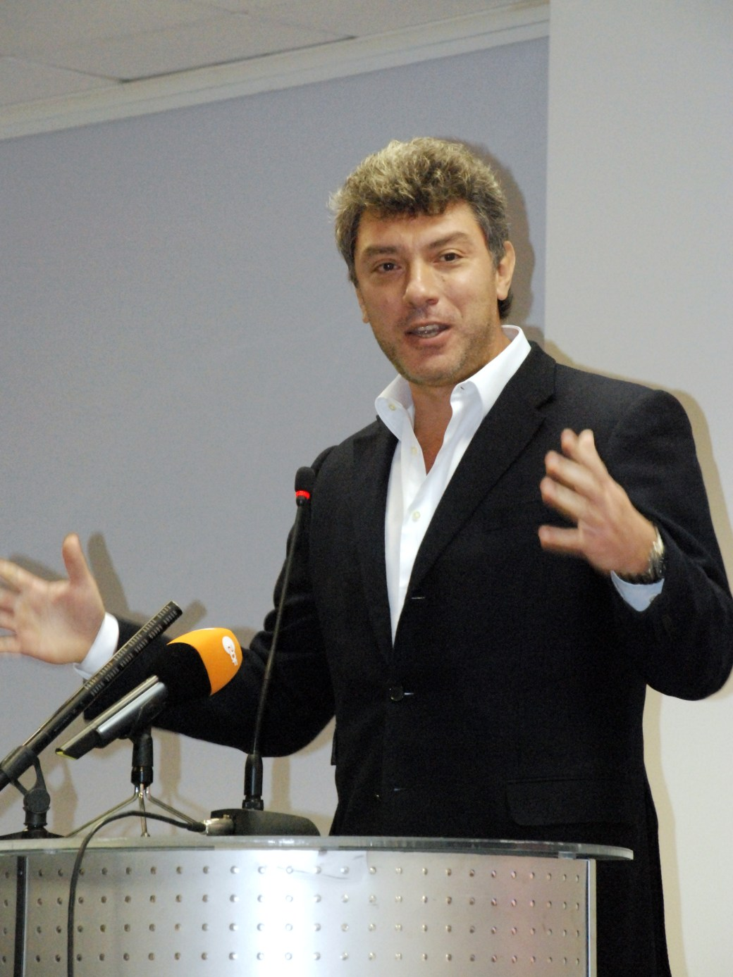 Борис Немцов на московской конференции движения «Солидарность». 23 ноября 2008 года