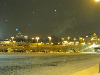 Немцов мост 16.01.2017. Вечернее дежурство. Вид на Немцов мост