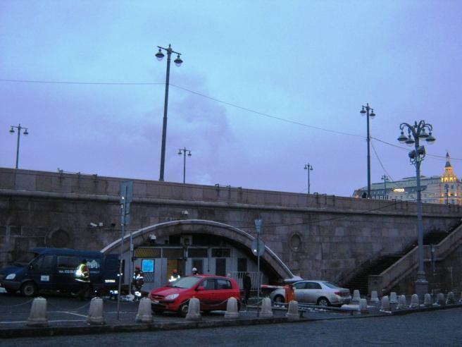 21.01.2017 Дежурство на мосту Немцова. Гормост приехал