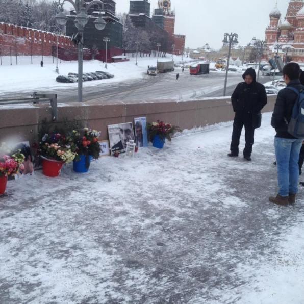 Немцов мост 5 февраля 2018, днем. Фотографии — Тамара Луговых
