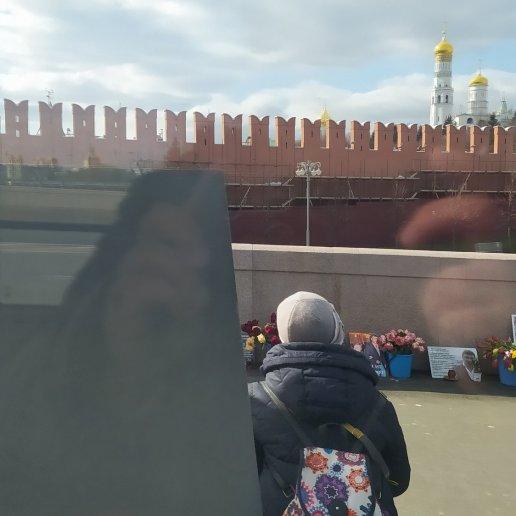 23.03.2020 Дневное дежурство на Мосту Немцова Мемориал из окна автобуса
