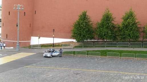 01.07.2020 Дневное дежурство на Мосту Немцова. Полиция
