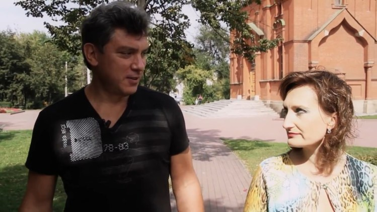 Борис Немцов в Челябинске. 4 сентября 2011 год