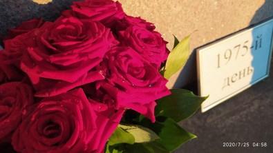 25.07.2020 Ночное дежурство на Мосту Немцова Мемориал. Розы