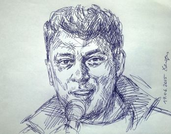 Борис Немцов, портрет Хейдиз шариковой ручкой