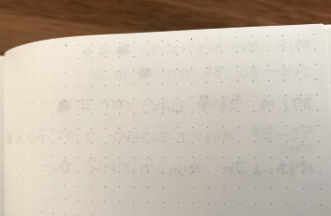 EDiT月間ノート万年筆テスト裏