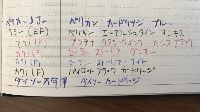 EDiT週間ノート万年筆テスト