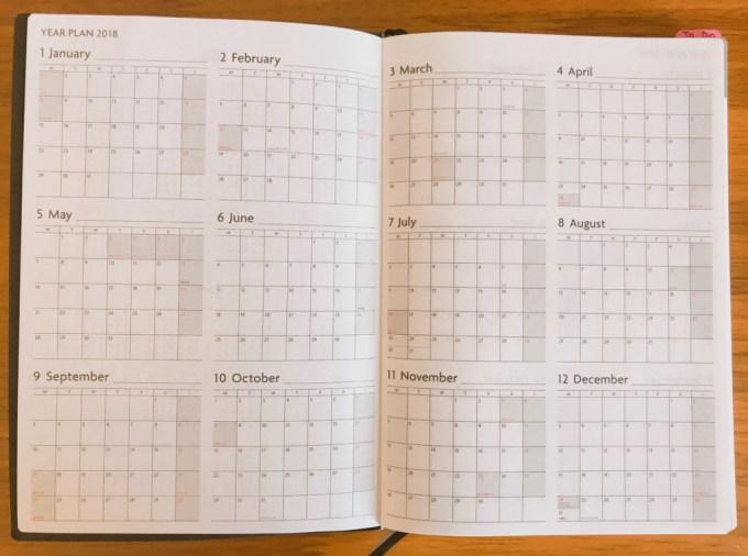 EDiT週間ノート年間カレンダー