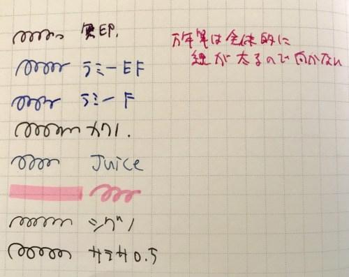ロルバーン手帳万年筆テスト