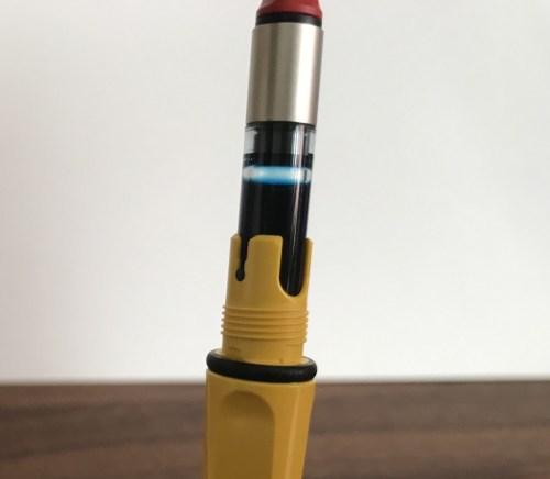 コンバーター式万年筆の洗浄