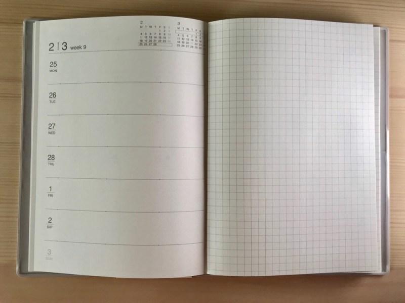 無印の2019年3月始まりマンスリー・ウィークリーノート