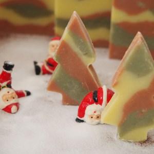 サンタ クリスマス 石けん マーブル